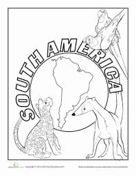south america worksheet education