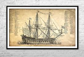 what size paper are blueprints printed on old ship blueprint archival paper print and canvas print