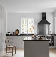 grey kitchen cabinets with black countertops 25 trendy contrasting countertops for your kitchen digsdigs