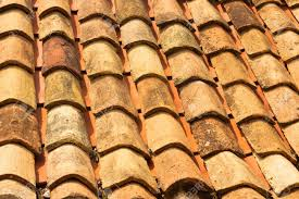 Ceramic Tile Roof The Texture Closeup Of The Red Old Clay Roof Tiles Stock Photo