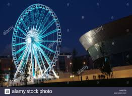 the echo wheel of liverpool and the echo arena liverpool england