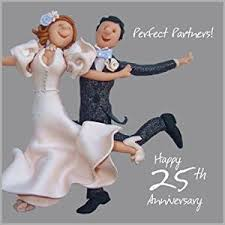 25 wedding anniversary 25th wedding anniversary card co uk kitchen home