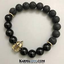 mens black beaded bracelet images Mens bracelets chakra yoga beaded mala black onyx luxury jewelry jpg
