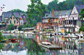 Boat House Row - boathouse row in philadelphia photograph by bill cannon