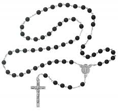 mens rosary miraculous men s rosary with black 7mm