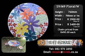 Mosaic Patio Table And Chairs Pool Furniture Durban Kwazulu Natal Mosaic Pool Outdoor Garden