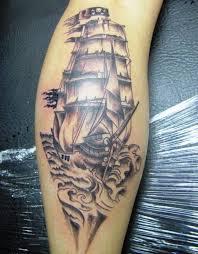 best pirate ship tattoos on leg pirate ship tattoos pinterest