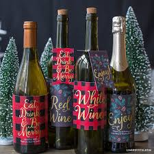 Christmas Wine Printable Christmas Wine Bottle Labels Lia Griffith