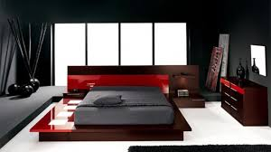 paint schemes for a bedroom design with modern style color red