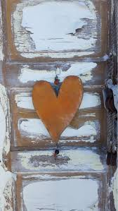 heart garden sign metal heart farmhouse decor yard art door