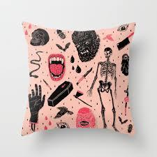 halloween cushions horror throw pillows society6