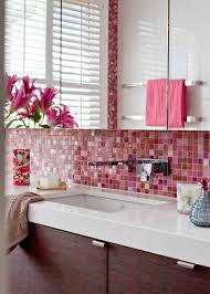 a razzle dazzle bathroom in pink home beautiful magazine