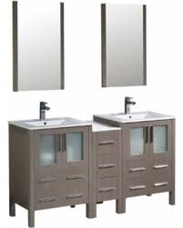 bathroom vanity with side cabinet amazing deal on 60 gray oak double sink bathroom vanity side