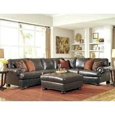 claire leather reversible sectional and ottoman claire leather reversible sectional and ottoman 4 piece right