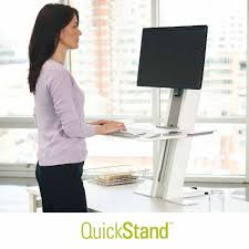 Workfit D Sit Stand Desk by Quickstand Sit Stand Com