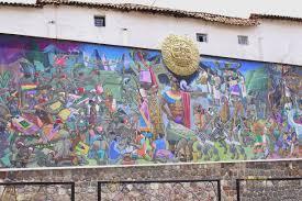 El Mural by Cuzco Cuzco Peru Cusco Mural Along Av El Sol To Depict The