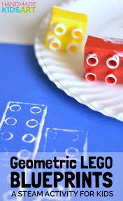 geometric lego blueprint a steam activity for kids math art