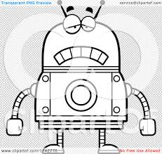 holiday coloring pages robot coloring page free printable