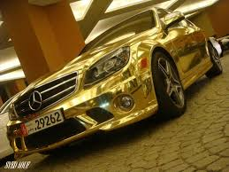 gold cars gold marsedes benz c63 car news and show
