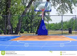 outdoor basketball court stock photo image 68613880