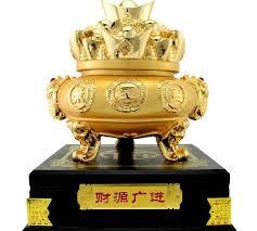 prime edge gilt ornaments opening gifts cornucopia caiyuanguangjin