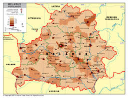 map of belarus population density map of belarus by bestcountryreports