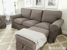 Pottery Barn Slipcovered Sofa by Furniture Ektorp Sectional For Give Your Furniture A New Look
