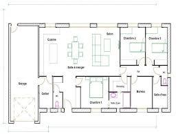 plan villa plain pied 4 chambres chambre plan maison 4 chambres frais plan de maison plain pied 4