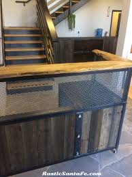 Reception Desk Wood by Industrial Reception Desk Reclaimed Wood And Steel Point Of Sale