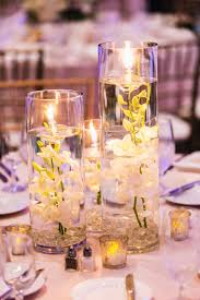 reception décor photos submerged orchids with floating candles