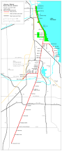 Rock Island Illinois Map by Chicago Metra Electric Lines