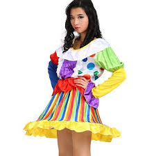colorful dress carnival clown costume for colorful dress