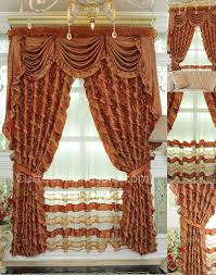 Burnt Orange Curtains Gold Curtains With Kind Of Burnt Orange Color With Shirring Lace