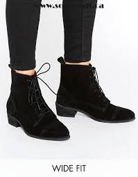 womens wide ankle boots canada black shoes asos wide fit suede lace up boots