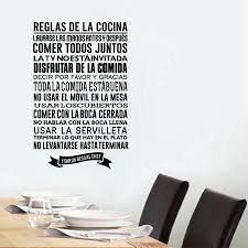 popular rules wall stickers buy cheap rules wall stickers lots spanish kitchen rules wall stickers diy vinyl wall decals spanish kitchen wall decor free shipping