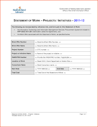 9 statement of work template survey template words