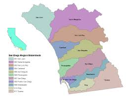 Map Of San Diego California by Map Of Watersheds In The San Diego Region Simcenter Www Wrsc