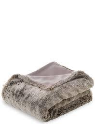 Faux Fur Throw Grey Faux Fur Throw M U0026s