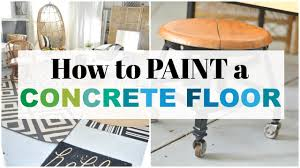 How To Paint A Table by How To Paint A Concrete Floor Youtube
