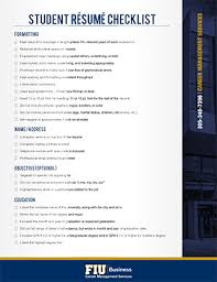 Resume Checklist Career Management Services Marketing And Communications