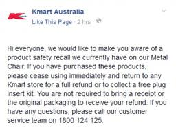 s steel cap boots kmart australia kmart toe slicing chairs injure 8 as 100k are recalled