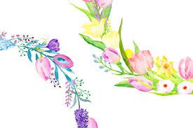 flower wreath watercolor flower wreath by cornercroft thehungryjpeg