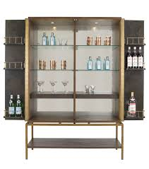 Metal Bar Cabinet Pollock Drink U0027s Cabinet Traditional Transitional Mid Century