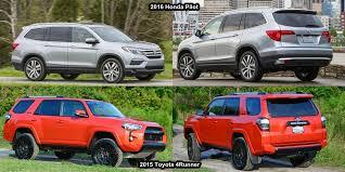 toyota 4runner vs lexus rx 350 benim otomobilim 2015 toyota 4runner vs 2016 honda pilot visual