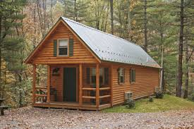 Rustic Log House Plans Adirondack Tiny Cabins Manufactured In Pa Cozy Cabins
