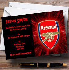personalised halloween party invitations arsenal personalised children u0027s party invitations the card zoo