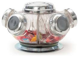 vintage revolving candy jars contemporary kitchen canisters