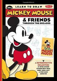 learn draw mickey mouse u0026 friends decades