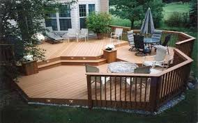 small backyard landscaping ideas with deck circular patio off deck