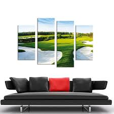 shopping online for home decor 4pcs a beautiful golf course wall painting print on canvas for